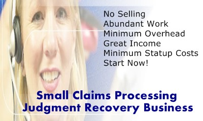 steps to start your own judgment recovery business